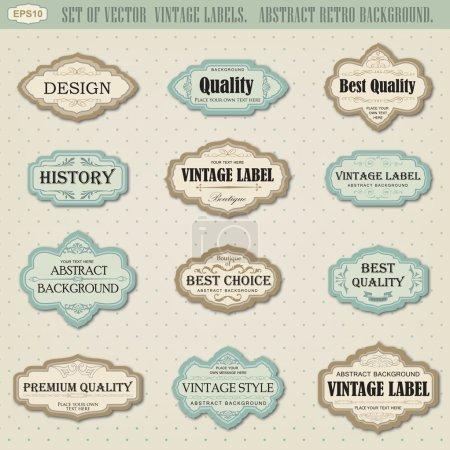 Ilustración de Conjunto de etiquetas vintage vector - Imagen libre de derechos