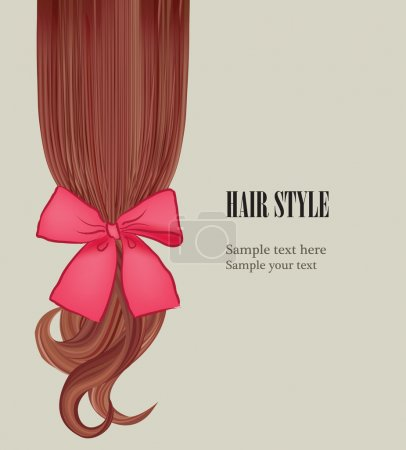 Illustration for Hair style template. Hairstyle design. Vector illustration. Hair colorful background. - Royalty Free Image
