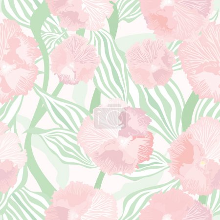 Flowers seamless background. Floral gentle seamless texture in pastel colours.