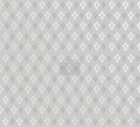 Abstract Geometric Retro Texture. Seamless pattern. Floral lightning ornament. Black and white flower background