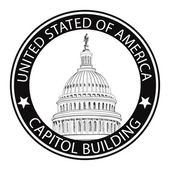 United States Capitol Grunge Rubber Stamp