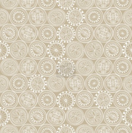 Illustration for Lace seamless texture. Seamless pattern. Floral lightning ornament. Abstract geometric kaleidoscope seamless background. - Royalty Free Image