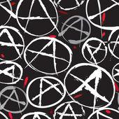 Anarchy symbol seamless pattern