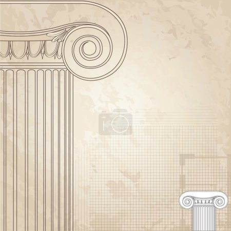 Classic columns seamless background. Roman column.