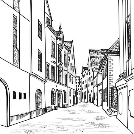 European downtown landscape