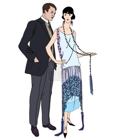 Male and fgemale retro fashion