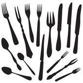 Fork Knife Spoon Silhouette set