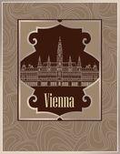 Vienne retro background