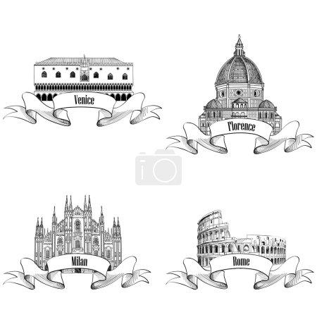 Italian city label