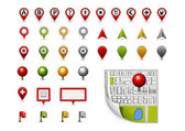 Different colored icons collection for map