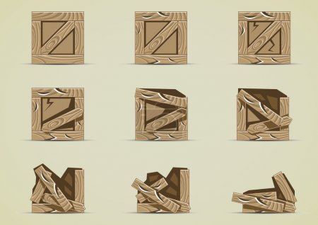 Step by step breaking box...