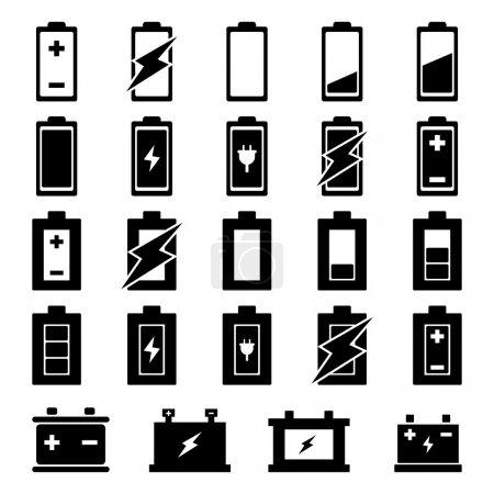 Illustration pour Set de vecteurs de batterie pour votre conception - image libre de droit