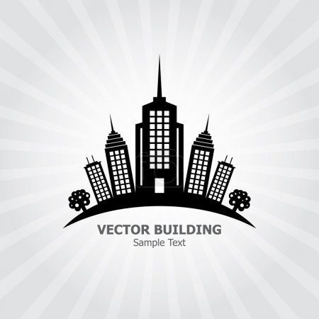 Illustration for Building Background for your design - Royalty Free Image