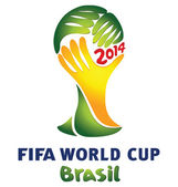 The official logo of the Brazilian football World Cup 2014