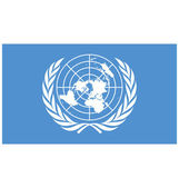 United Nations flag vector illustration created EPS 10