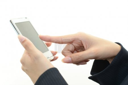 Holding a mobile phone