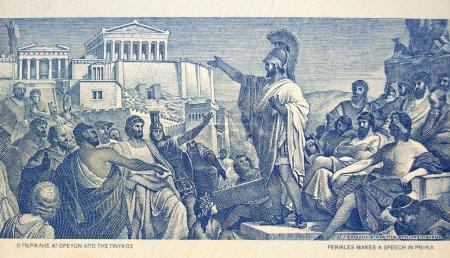 Perikles fait un discours à la foule