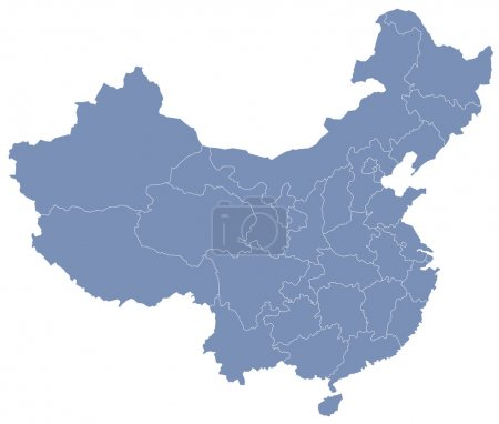 Vector map of 's Republic of China (PRC)...