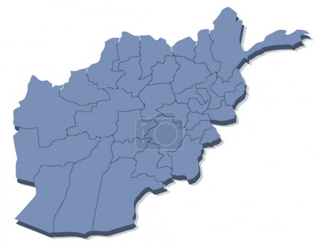 Vector map of Afghanistan