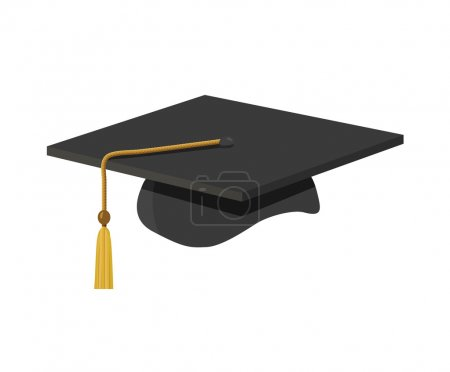 A graduation cap (mortar board) with tassle