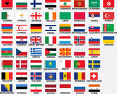 National flags of all european countries whole countries included even kosovo bosnia etc