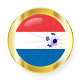 national flag of the Netherlands (Holland) in circular shape wit