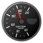 Vector illustration of a water temperature meter on white back ground