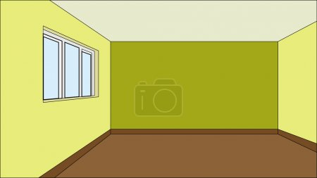 Illustration for Virtual model room for your design development projects, fully recolorable - Royalty Free Image