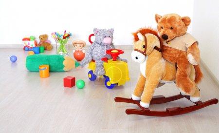 Toys in kidsroom