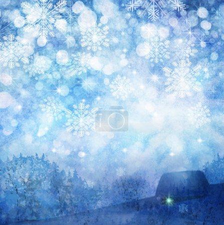 Foto de Fondo de invierno de nieve. - Imagen libre de derechos