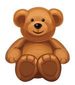 Vektor roztomilý medvěd