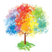 Vector of abstract colorful tree