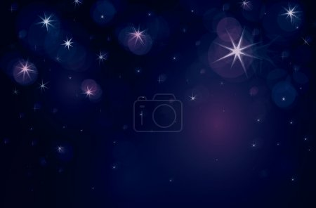 Starry night with lights of stars