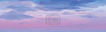 Illustration pour Vecteur de fond du ciel, lever ou coucher du soleil . - image libre de droit