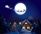 Santa Claus Sleigh, vector
