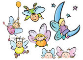 Cute angels for your design