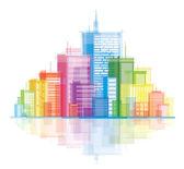 Colorful panorama city