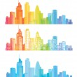 Vector of colorful London skyline...