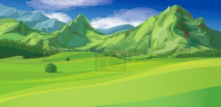 Illustration for Vector of mountain landscape - Royalty Free Image