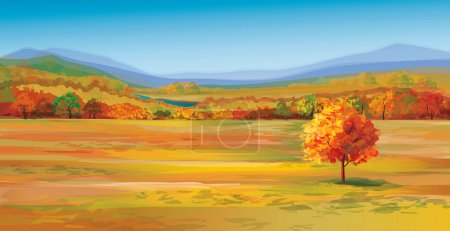 Illustration for Vector of autumn landscape. - Royalty Free Image
