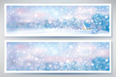 winter snow scene banners