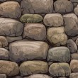 Vector seamless texture of stones in brown colors...