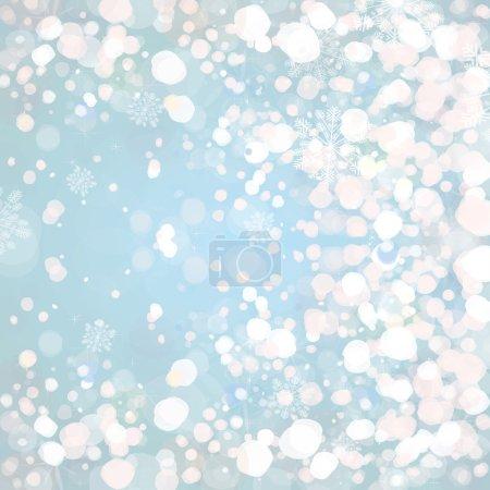 Snow on blue background.