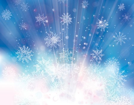 Background with snowflakes.