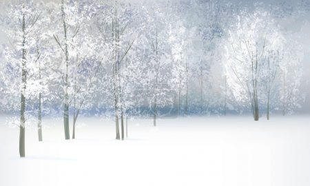 Illustration for Vector of winter landscape. - Royalty Free Image