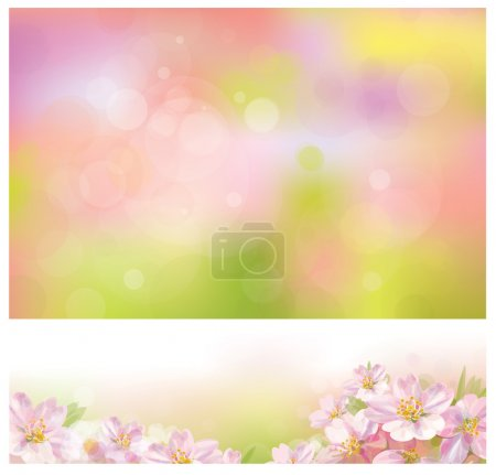 Illustration for Vector of spring backgrounds for design. - Royalty Free Image