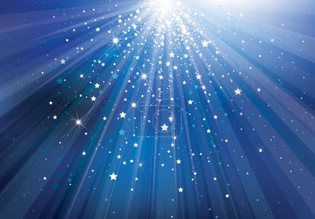 Illustration for Vector sky background with lights and stars. - Royalty Free Image