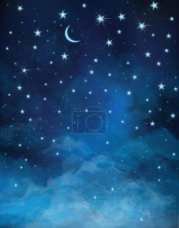 Vector night starry sky.