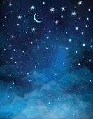 Vector night starry sky