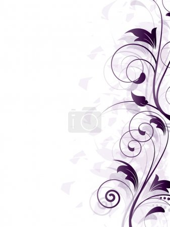 Illustration for Ornamental border with floral elements and swirls - Royalty Free Image